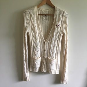 Sweaters - Hollister Cable knit cardigan sweater